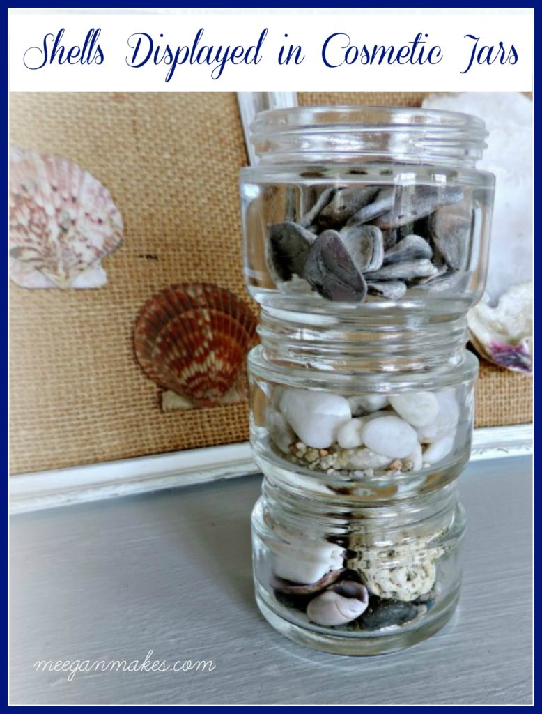 Shells Displayed In Cosmetic Jars