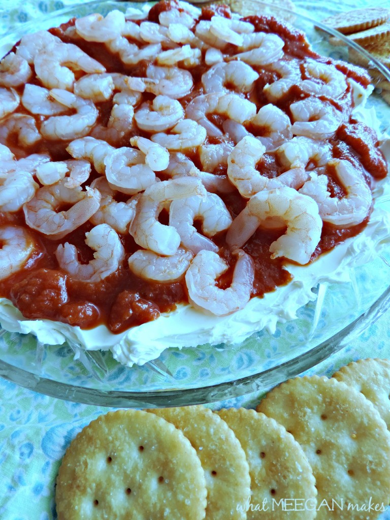 shrimp cocktail and crackers