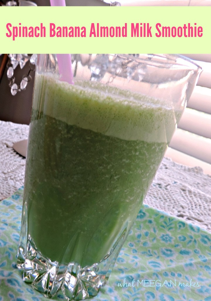 Spinach Banana Almond Milk Smoothie and a Google+ Hop