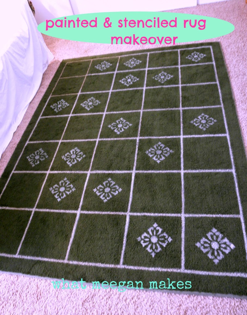 painted and stenciled rug