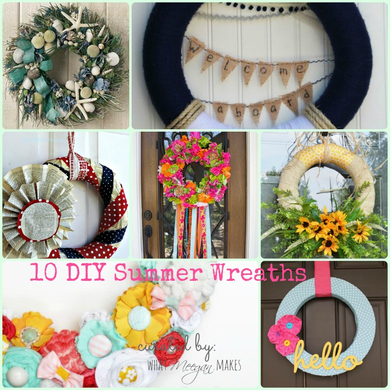 10 DIY Summer Wreaths