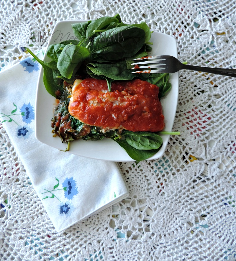 Alaskan Cod with Spinach and Salsa