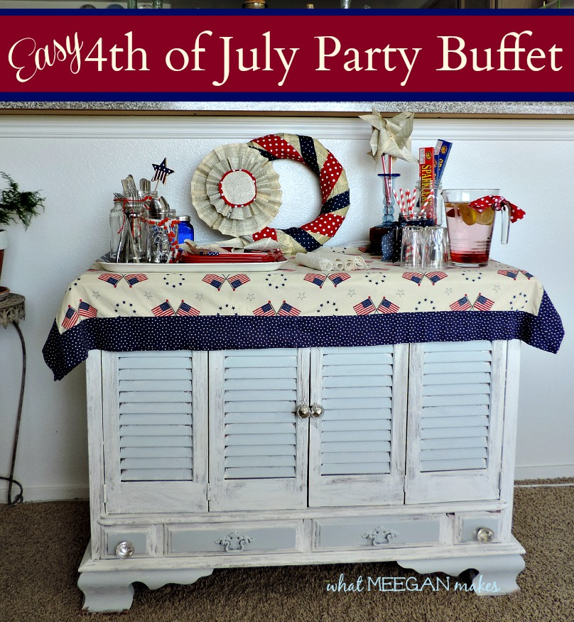 Easy 4th of July Party Buffet-What Meegan Makes