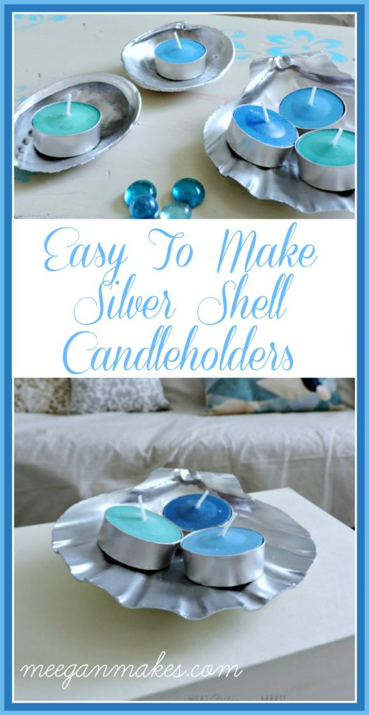 How To Make Silver Shell Tealight Holders