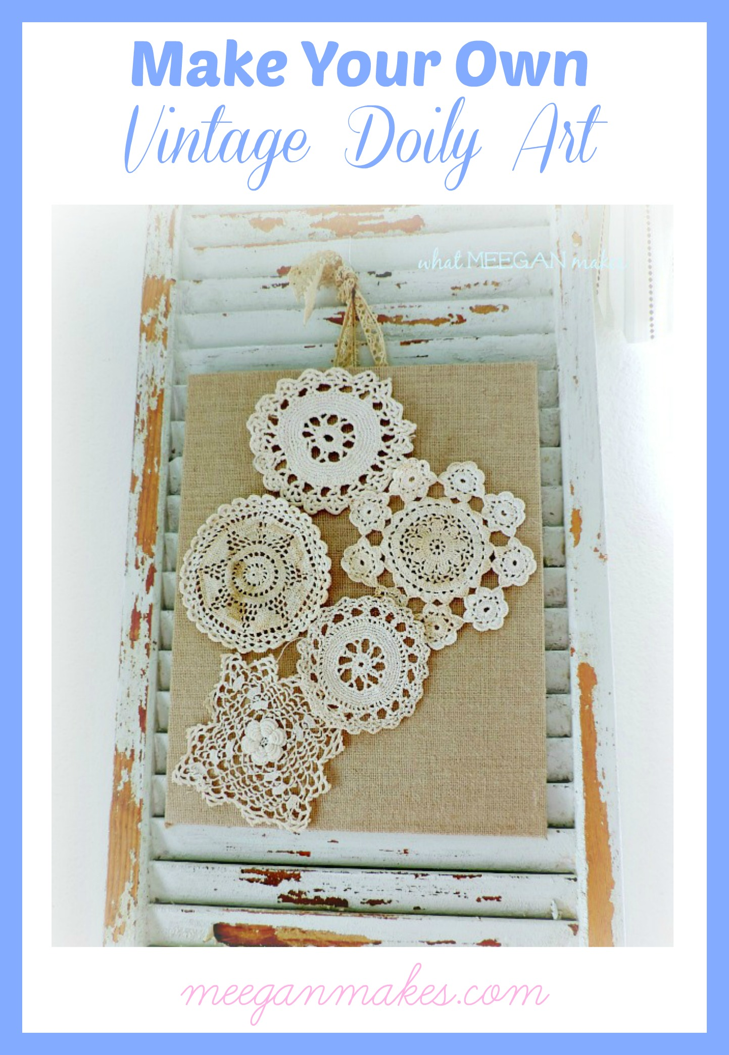 Make Your Own Vintage Doily Art