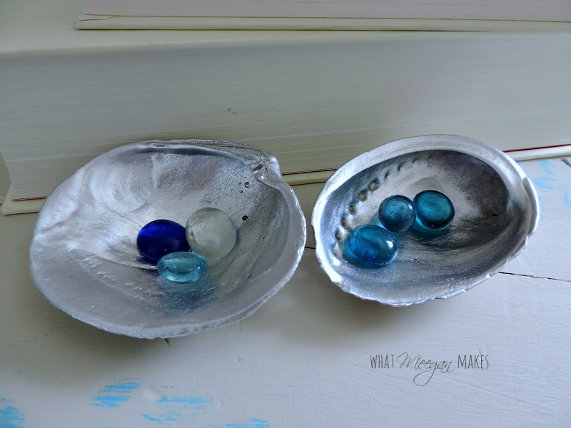 Silver Shells with Marbles