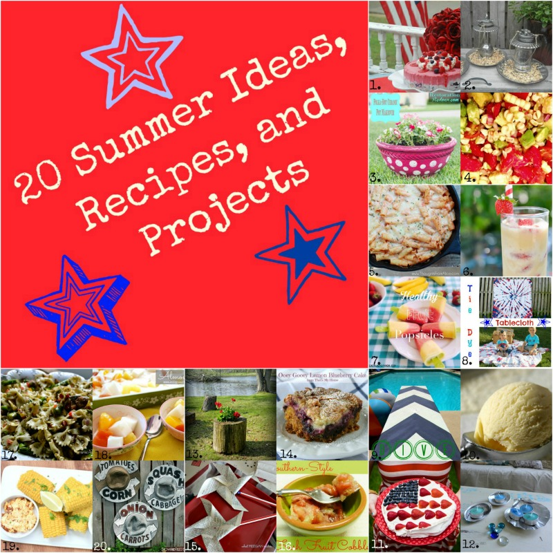 20 Summer Ideas, Recipes and Projects