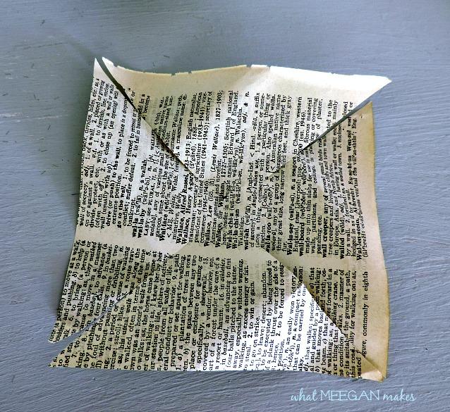 DIY Vintage Book Page Pinwheel