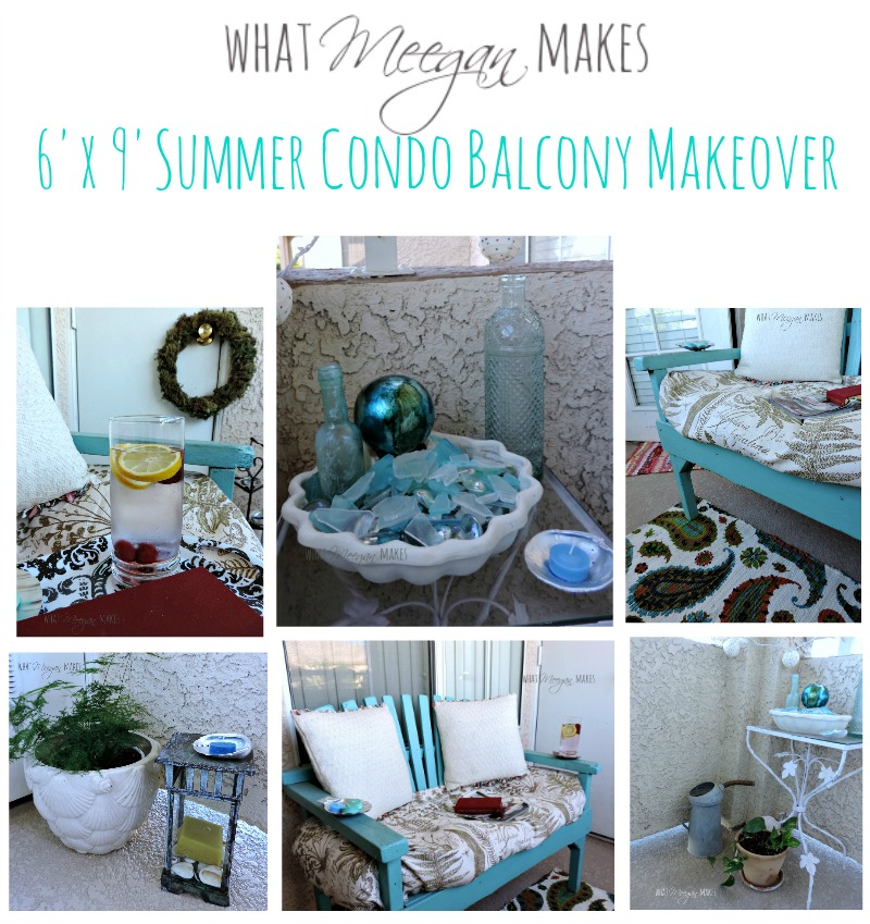 Summer condo balcony makeover what meegan makes for Balcony makeover