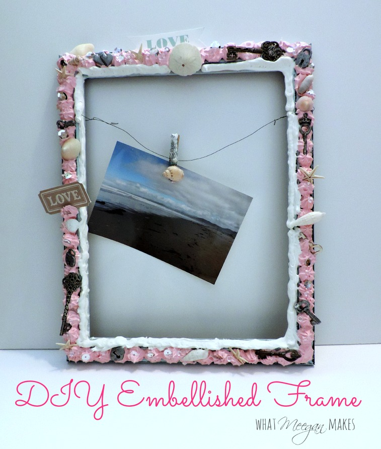 DIY Embellished Frame Label