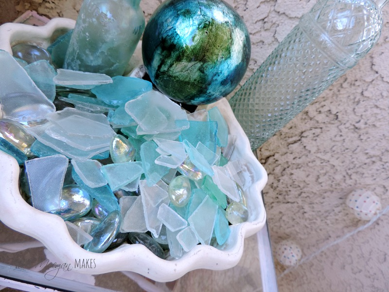 Sea Glass Shell Bowl Pottery Barn Knock-off