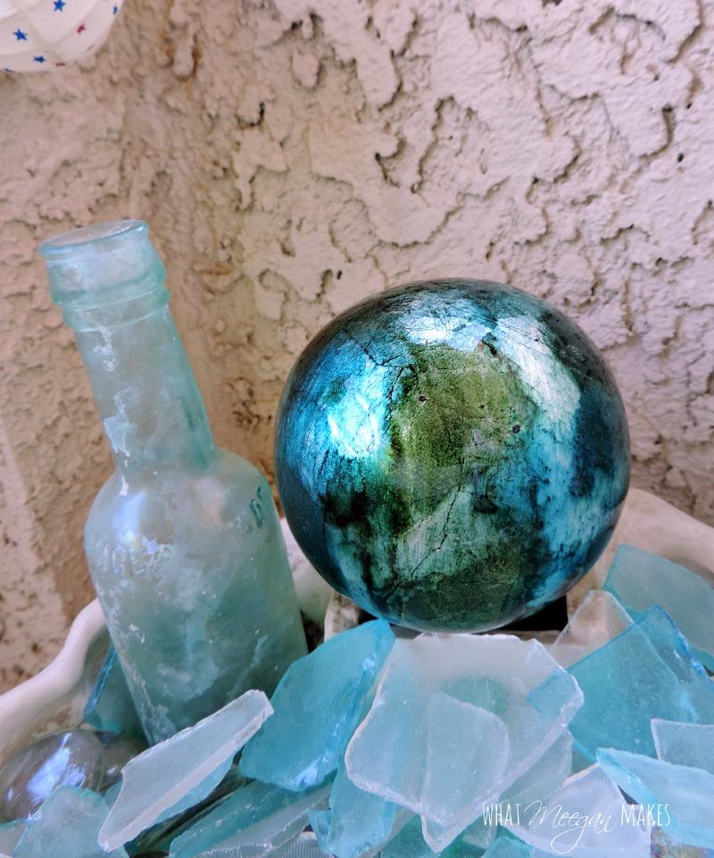 Sea Glass Shell Bowl Pottery Barn Knock-off