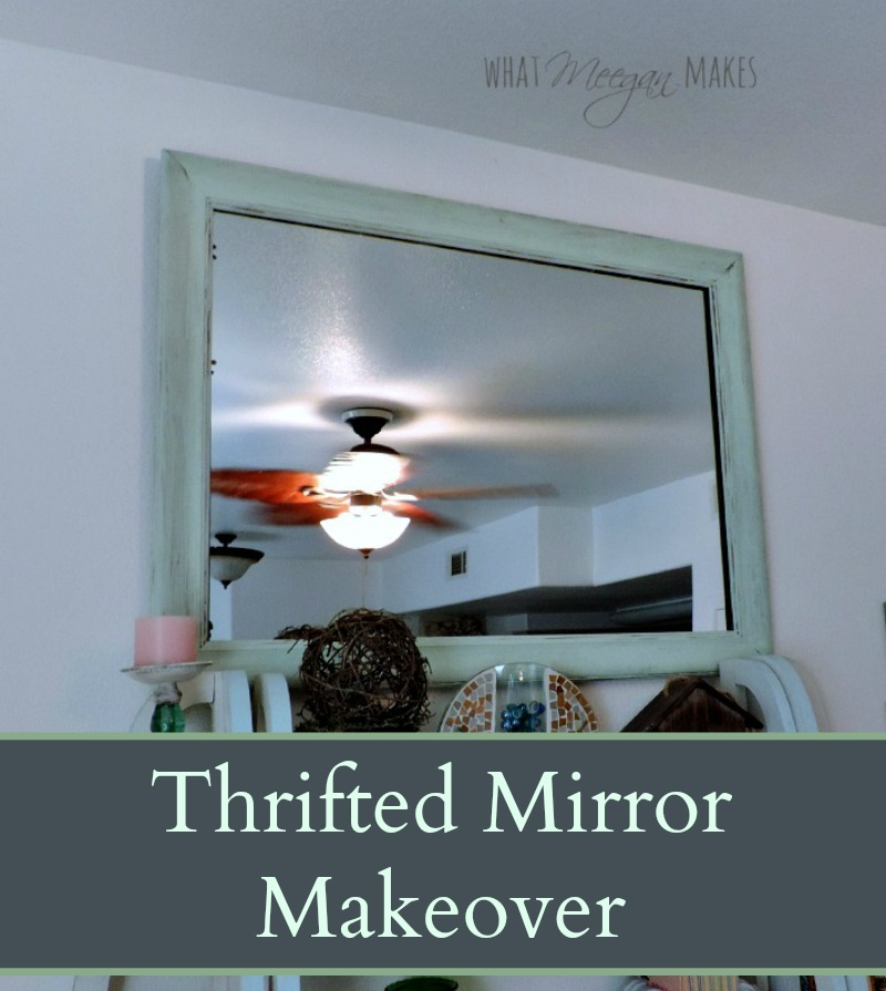 Thrifted Mirror Makeover