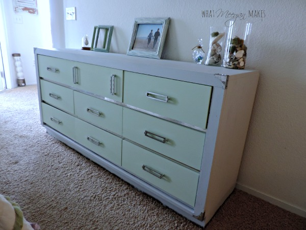 Thrifted Dresser Makeover Using Homemade Chalky Paint