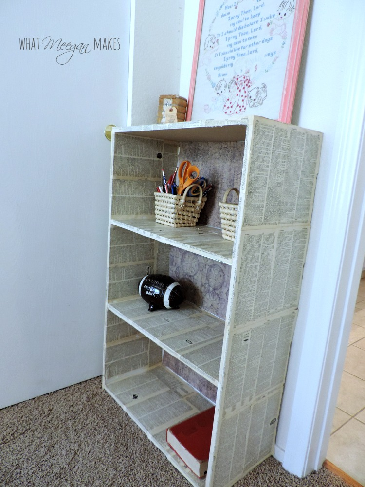 Decoupaged Target Bookcase