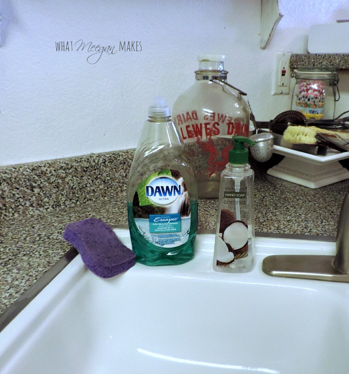 Use An Olive Oil Bottle As A Dish Soap Dispenser