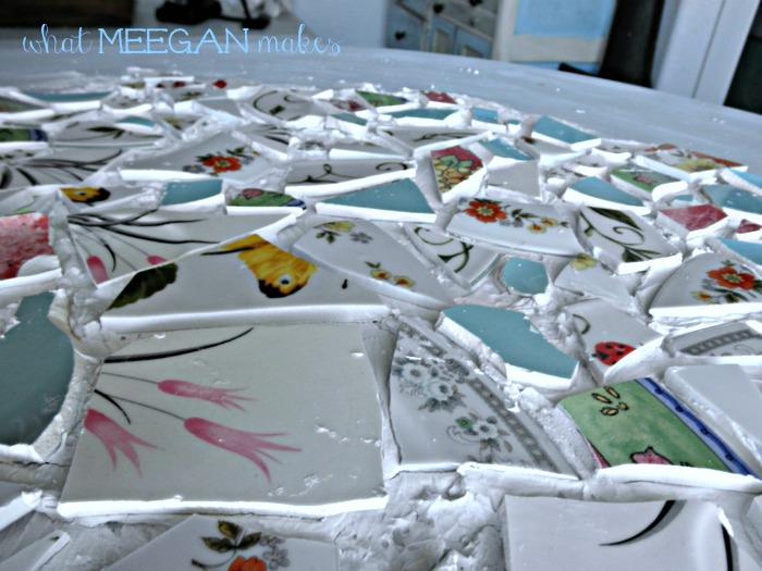 Broken Plate Mosaic Table