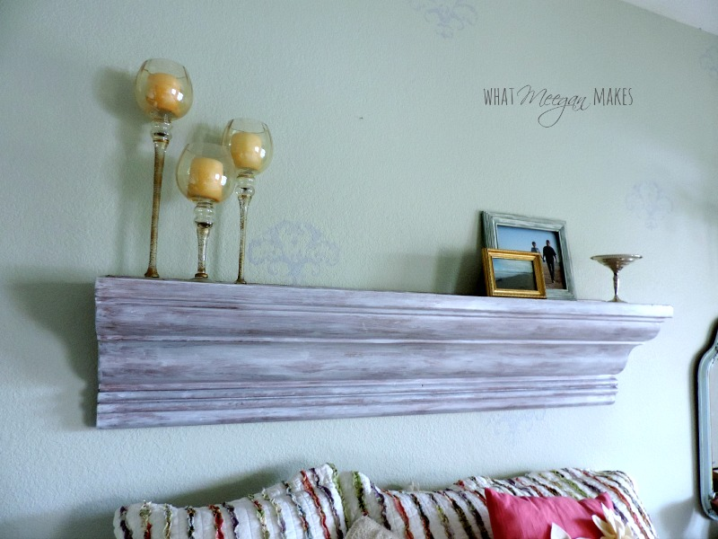 Use a Large Shelf or Mantel in Place of a Headboard