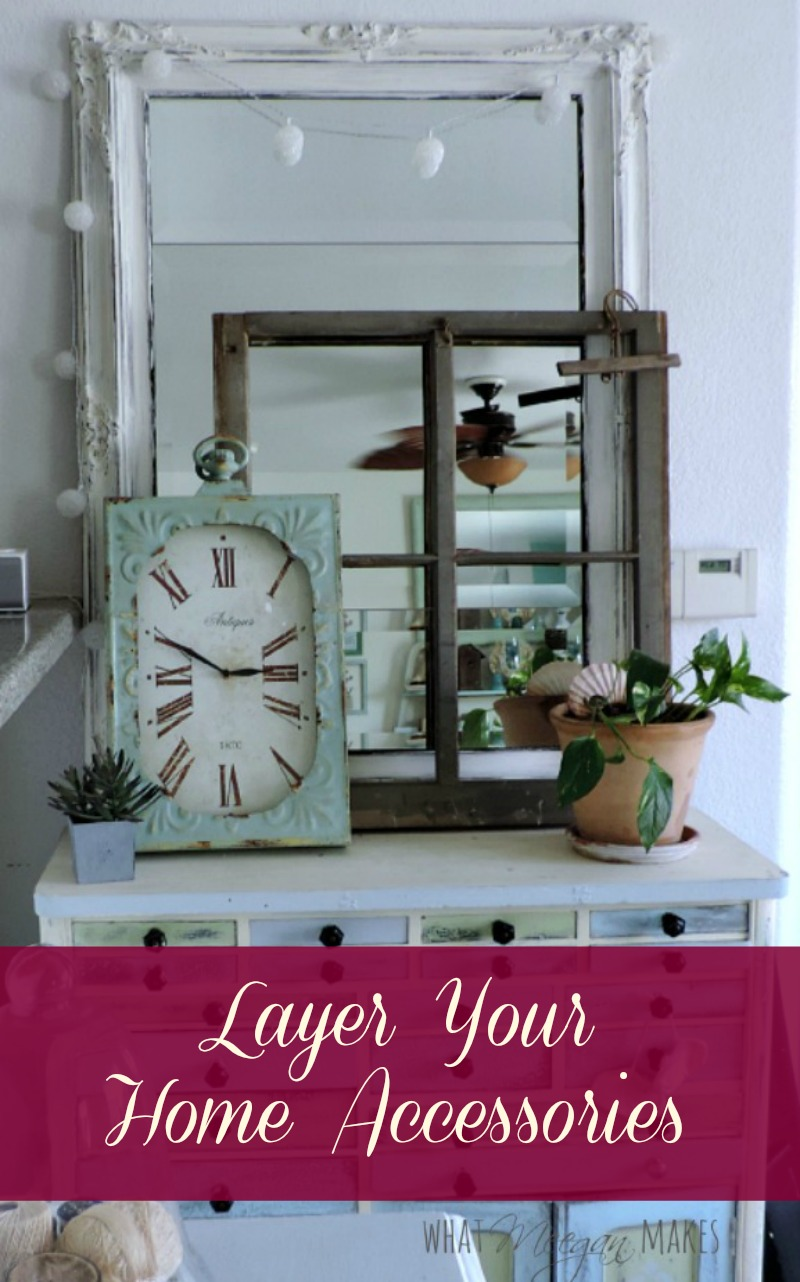 Vintage Window Frame and Layering