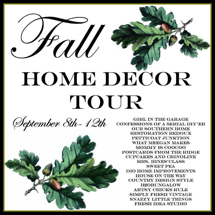 Fall Home Decor Tour Starts Today