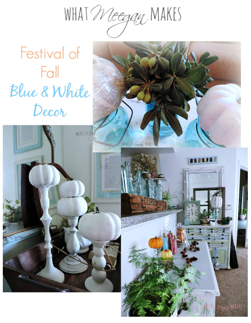 Festival of Fall Blue & White Decor