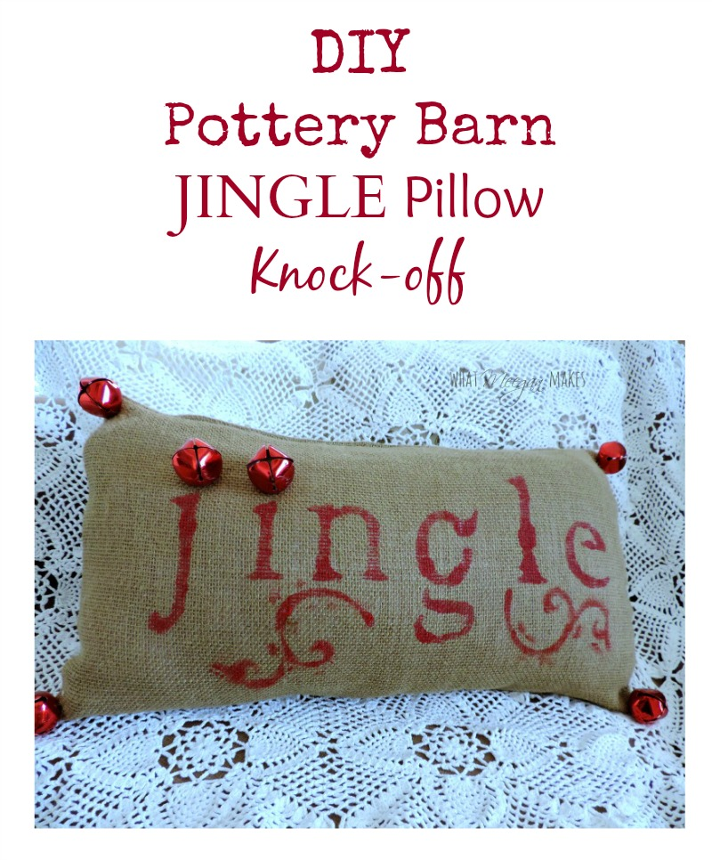 Pottery Barn Jingle Pillow Knock-off