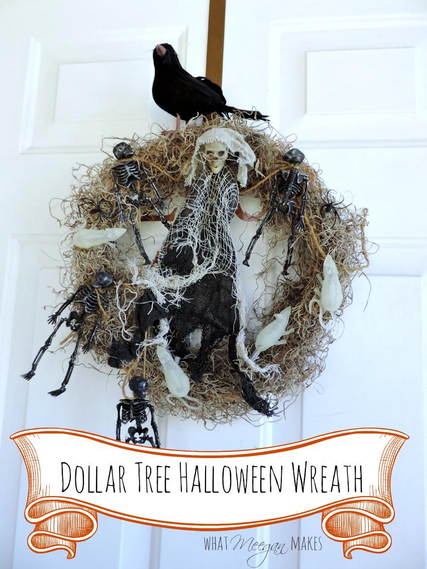 Diy Halloween Wreath Made Easy What Meegan Makes