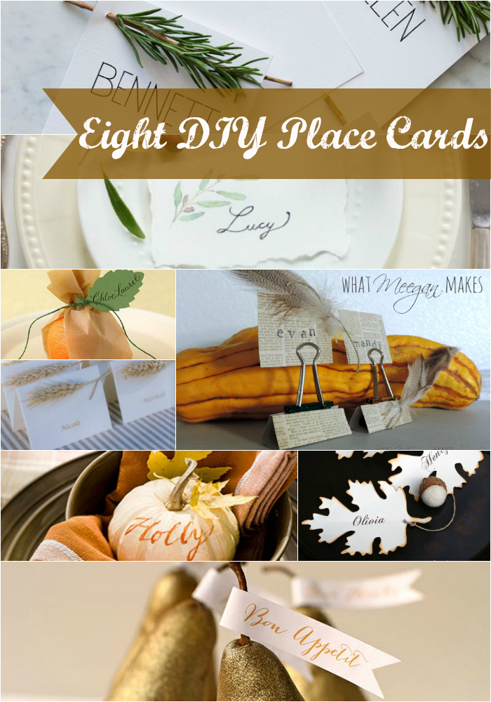 Eight DIY Place Cards