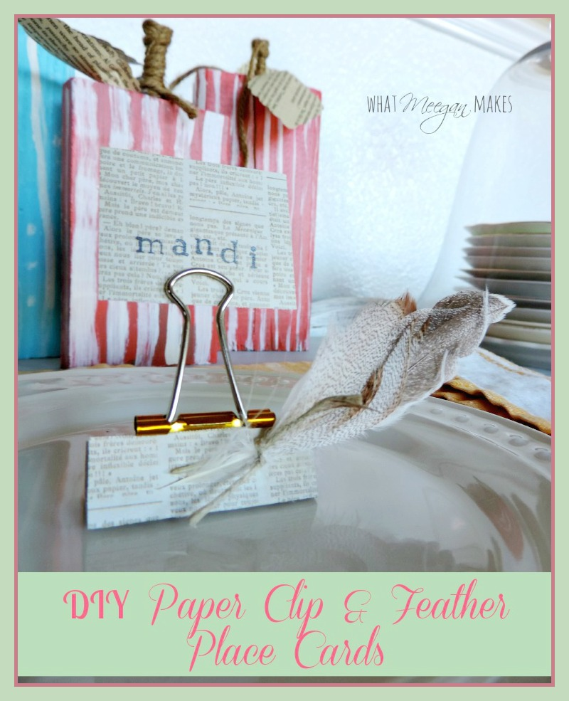 make-your-own-place-cards-with-a-paper-clip-and-feathers
