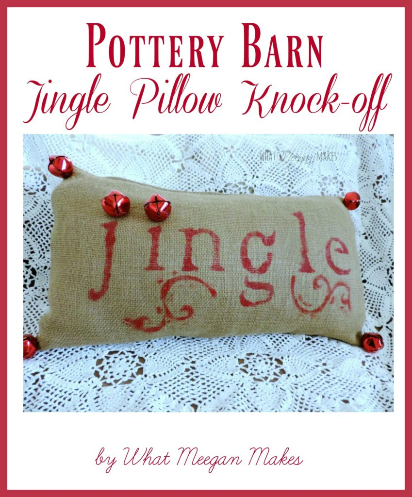 Pottery Barn Jingle Pillow Knock-off by meeganmakes.com