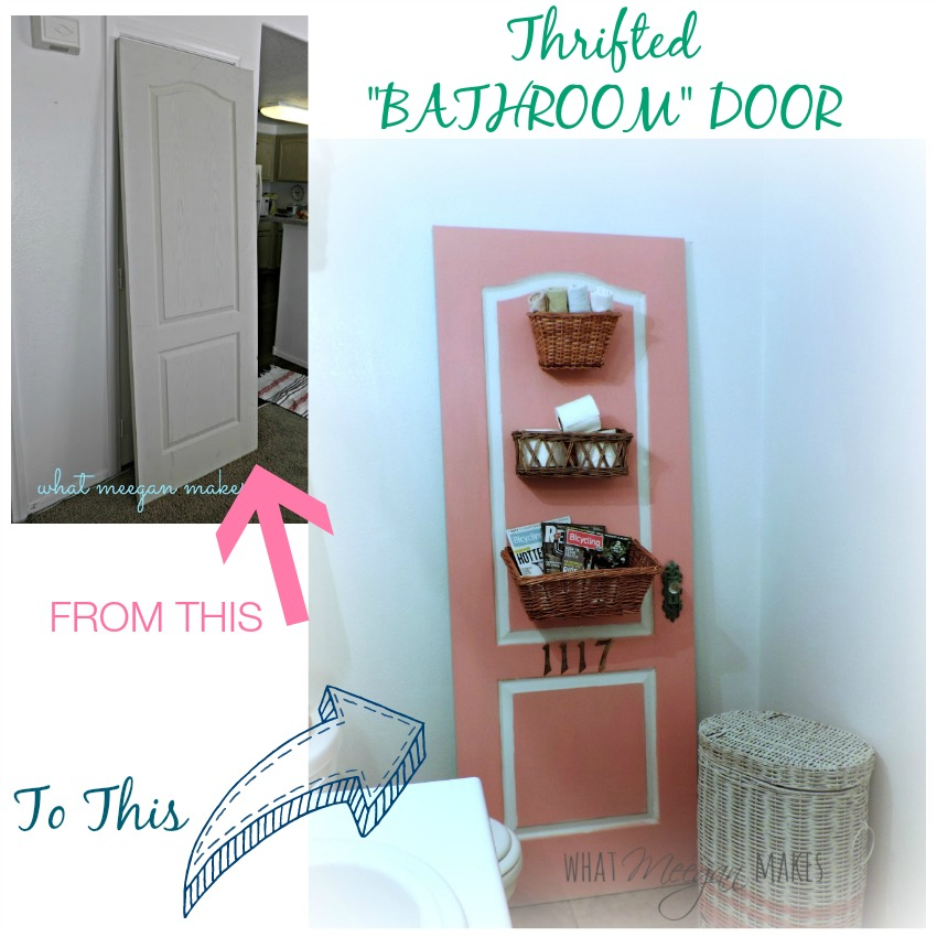 Thrifted Bathroom Door From this to this
