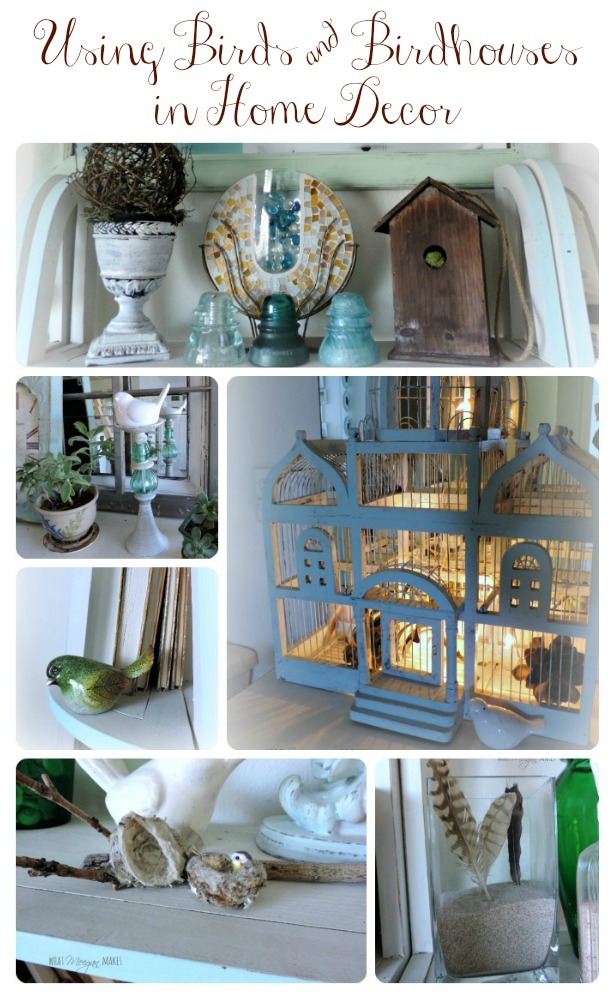 Using Birds & Bird Houses in Home Decor