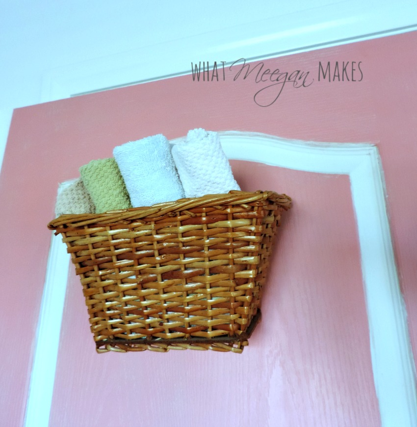 thrifted door with wash cloths