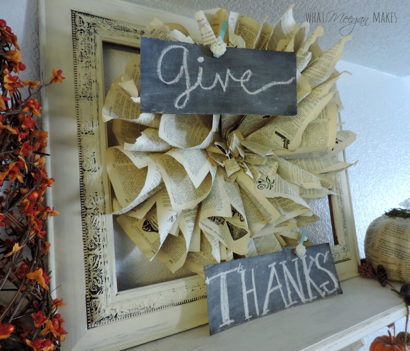 Give Thanks Cardboard Chalkboards