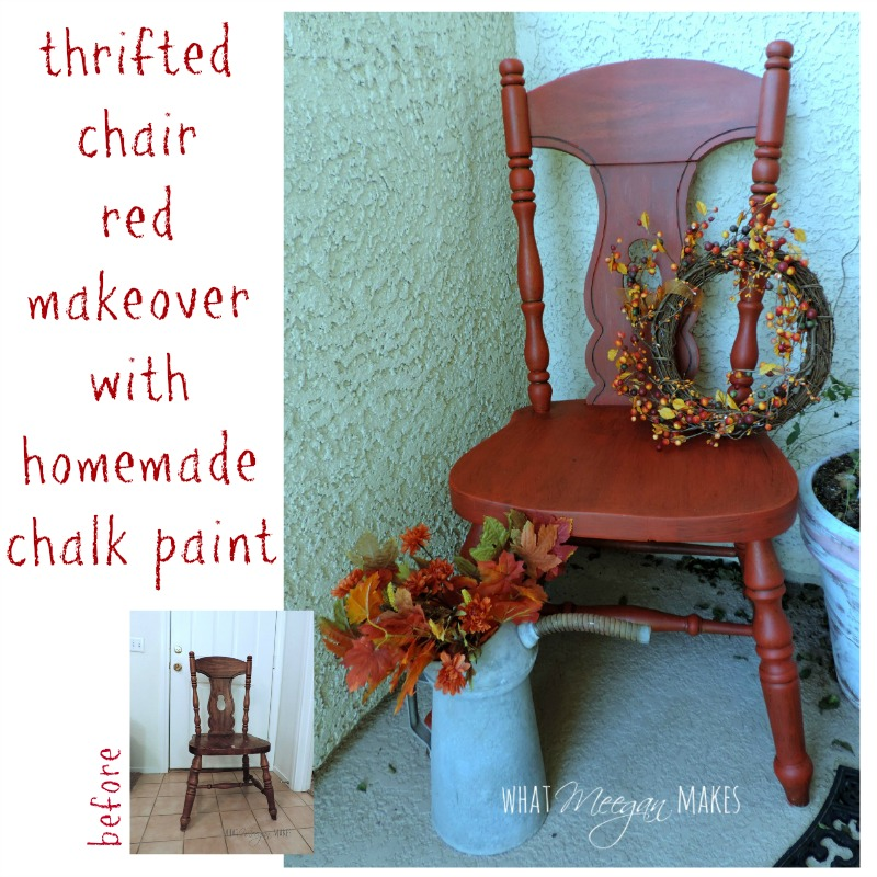 Red Chair Makeover