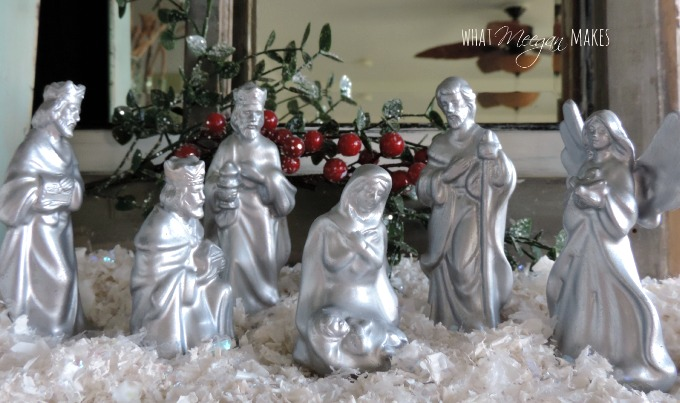 DIY Silver Nativity Set