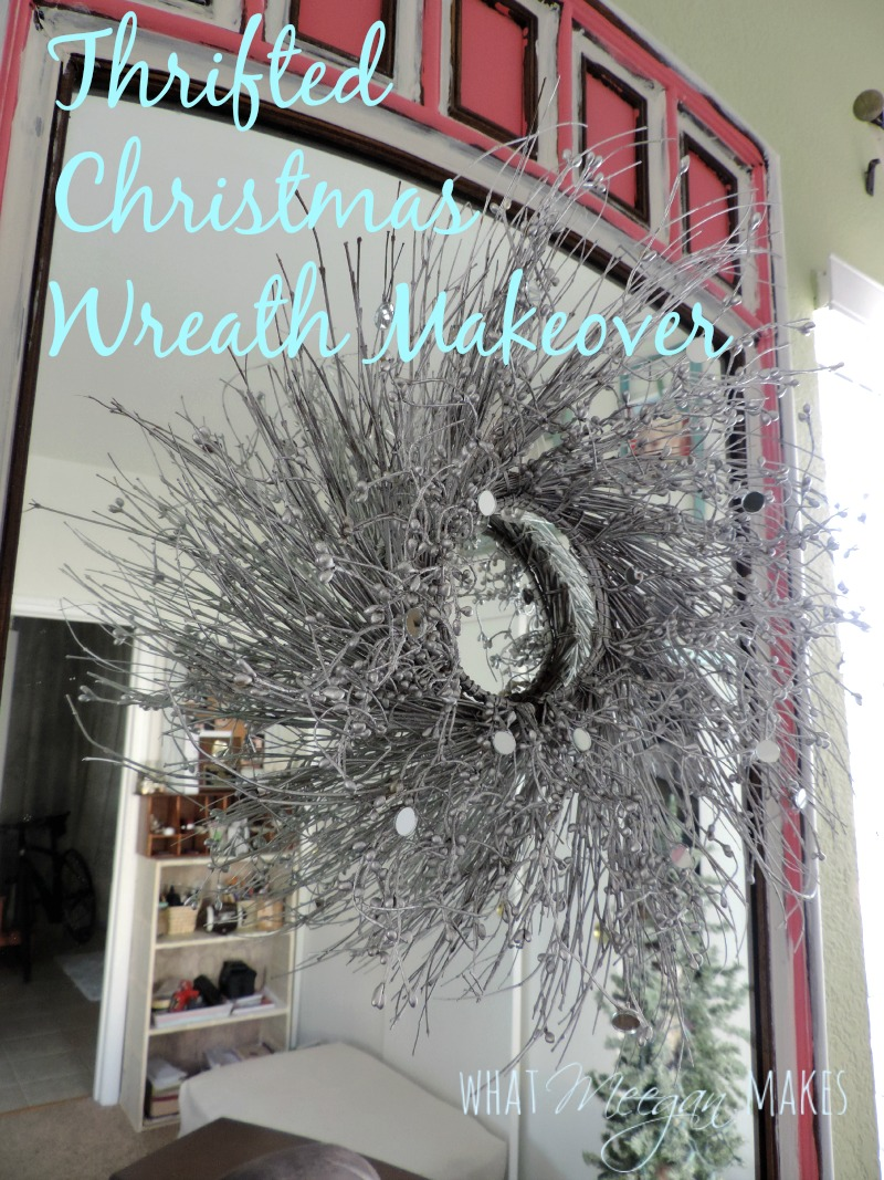 Thrifted Christmas Wreath Makeover