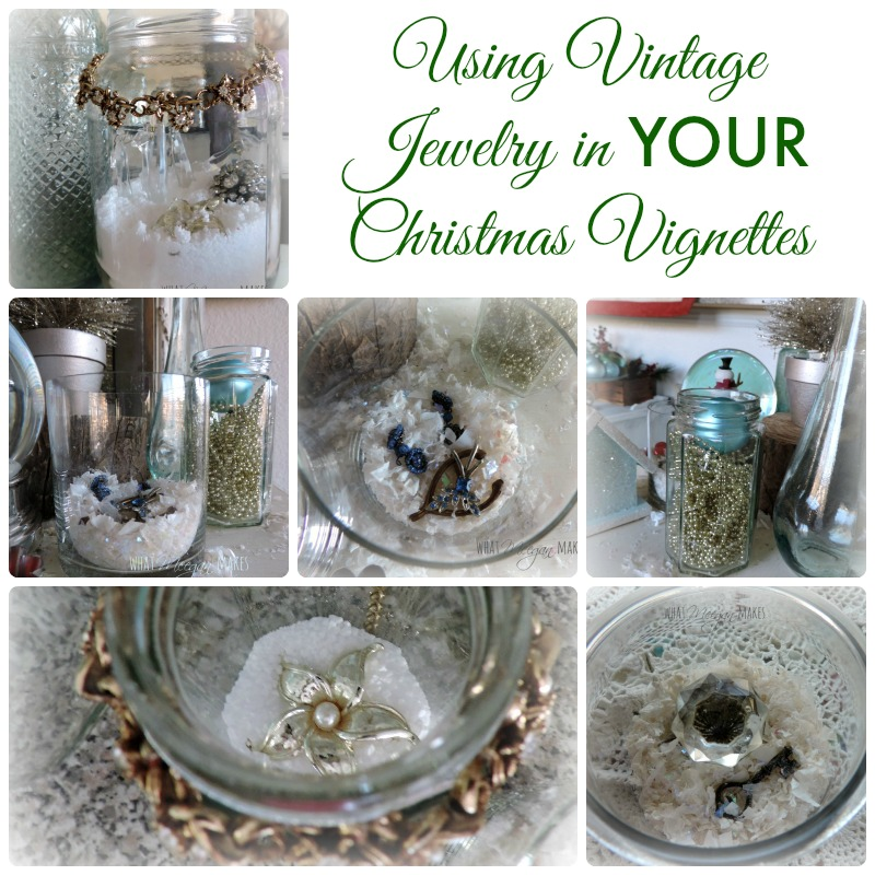Using Vintage Jewelry in YOUR Christmas Vignettes