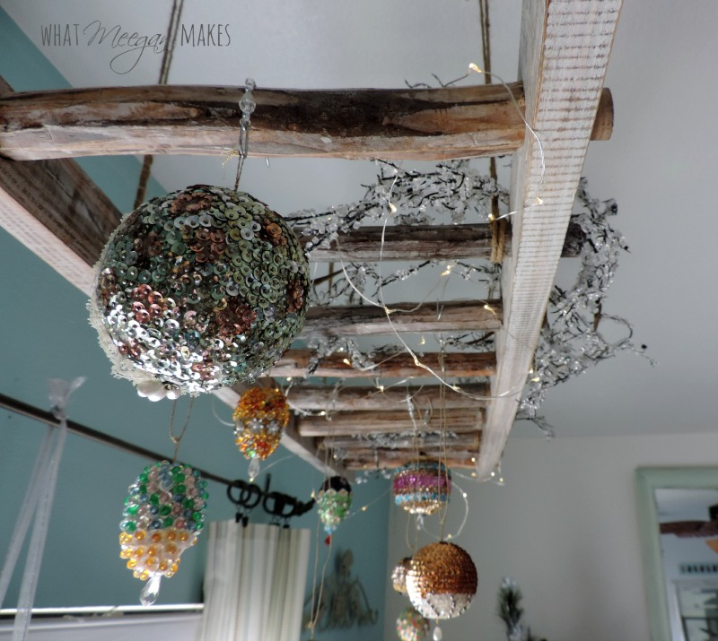 Pinterest Home Decor 2014: How To Hang A Vintage Ladder As Home Decor