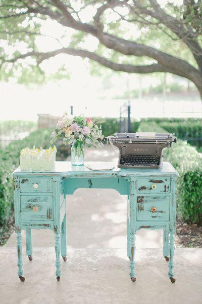 Blue Chippy Desk