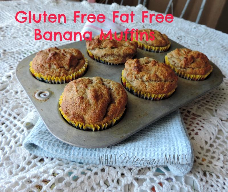Gluten Free Fat Free Banana Muffins