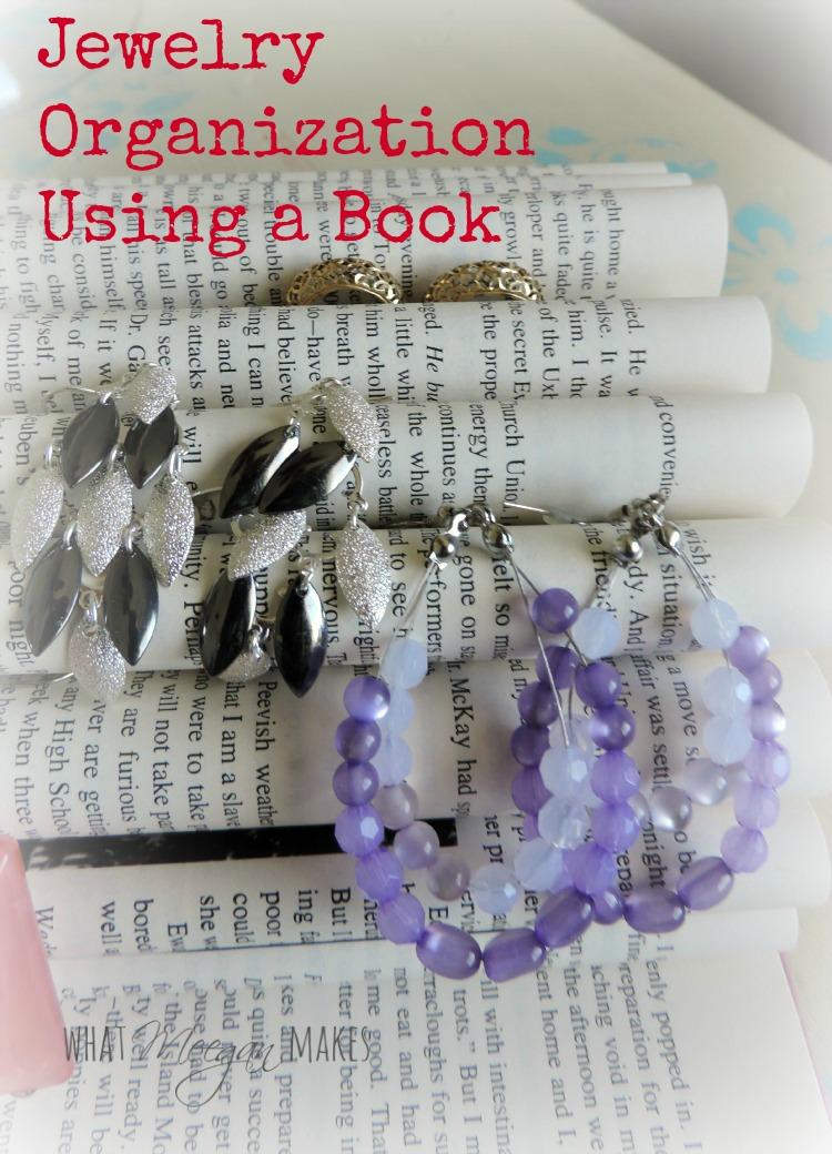 Jewelry Organization Using a Book