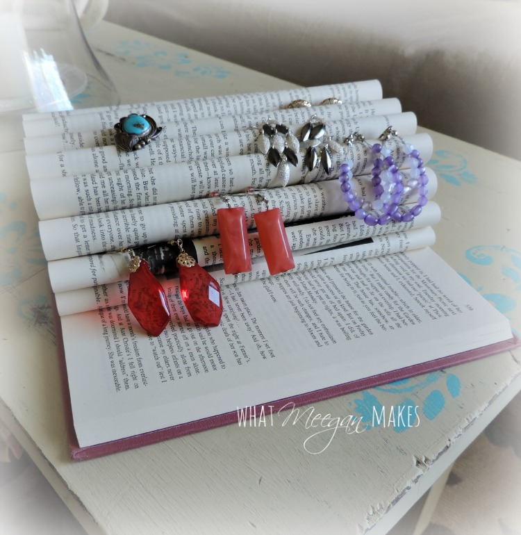 Jewelry Organization with a Book