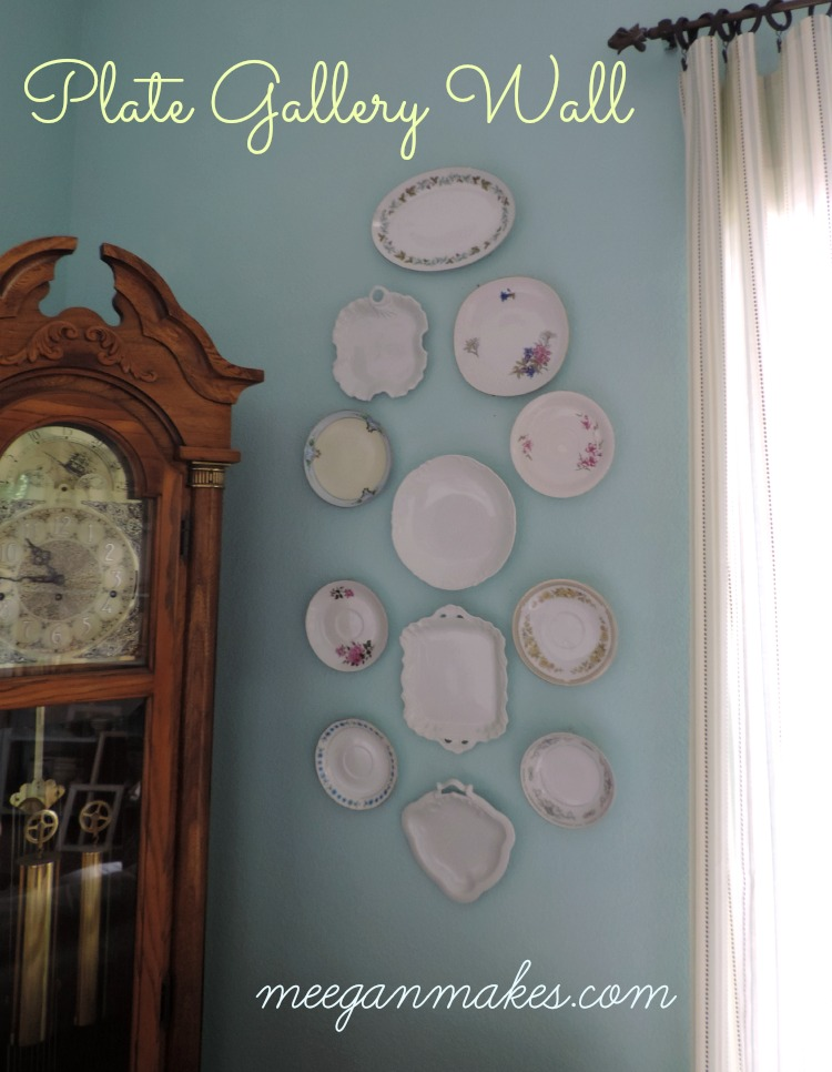 Plate Gallery Wall meeganmakes.com