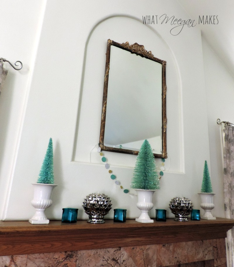 Winter Living Room Mantel