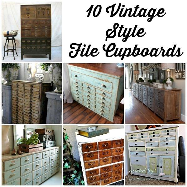 10 Vintage Style File Cupboards