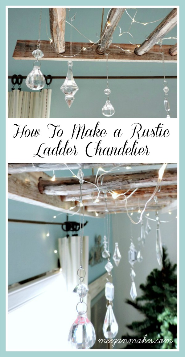 How To Make a Rustic Ladder Chandelier