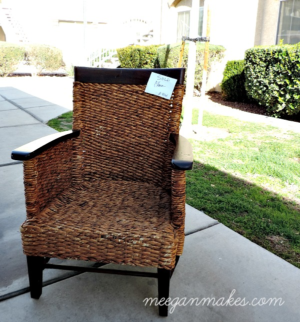 Rattan Thrifted Chair