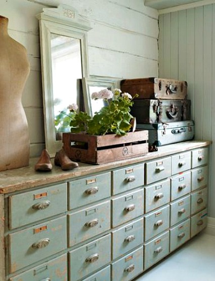 Vintage Storage Drawers