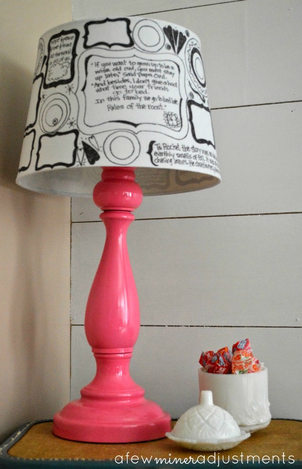 Pretty In Pink Lamp Makeover